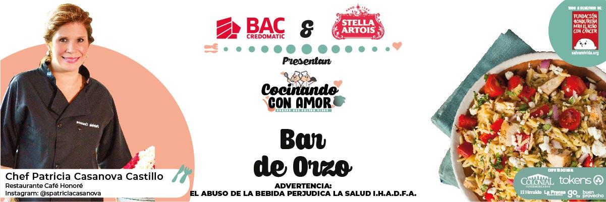 BAR DE ORZO / COCINANDO CON AMOR